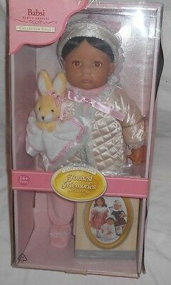 """ZAPF CREATIONS Fondest Memories BABSI Doll 18"""" NEW Baby Girl with Bunny PINK"""