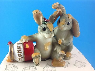 Charming Tails ~ Honey Bunnies Figurine
