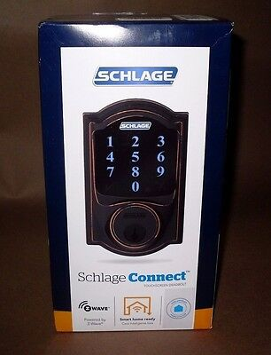 Schlage Connect Camelot Touchscreen Deadbolt - Aged Bronze - BE469WK V CAM 716