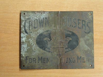 Vintage Crown Trousers For Men and Young Men Plaque Sign