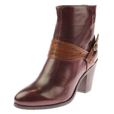 Everybody 2034 Womens Purple Leather Ankle Boots Shoes 38.5 Medium (B,M) BHFO
