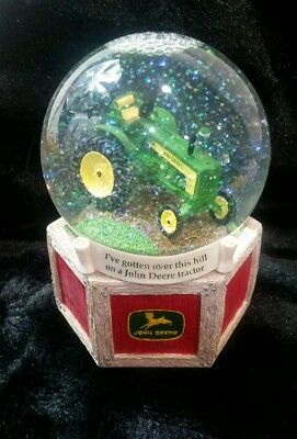 John Deere Musical Snow Globe Plays Farmer in the Dell Enesco