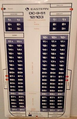 Eastern airlines seat map poster