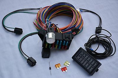 14 Circuit Wire Harness Fuse Box street hot rod wiring car truck 12v GM coded