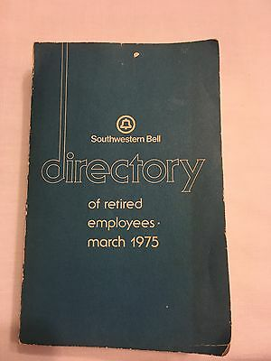 Southwestern Bell Directory of Retired Employees 1975