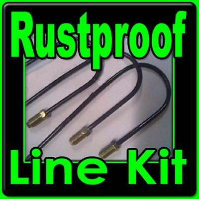 Rustproof metal brake line kit Chevy Camaro w/ manual Drum brakes 1967 - 1970
