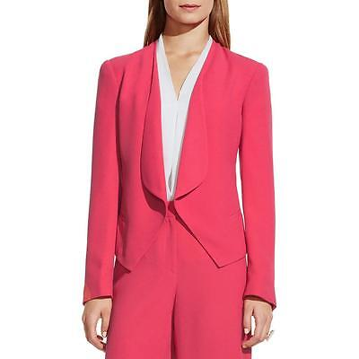 Vince Camuto 0433 Womens Pink Crepe Drapey Open-Front Blazer Jacket 4 BHFO