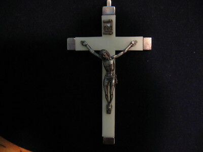 "Vintage Catholic Crucifix Cross  4-1/2""  made in Italy"