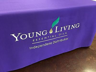 NEW YOUNG LIVING BRANDED/LOGO Tablecloth 8ft Table YL Vendor Events Tradeshows
