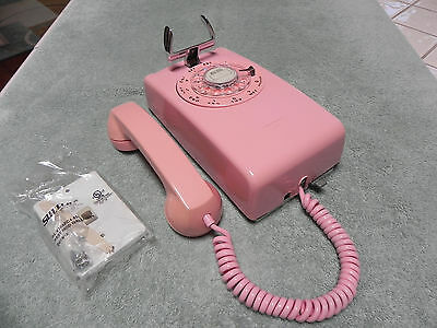 1963 Pink Western Electric Bell System 554 Rotary Wall Telephone-Restored-Nice