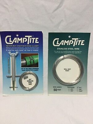 BNIB The Original Clamptite Tool Kit Plus Extra Wire Package