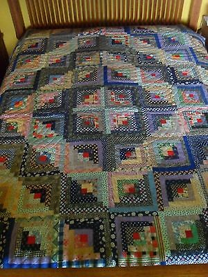 Vintage Quilt Log Cabin Barn Raising Pattern