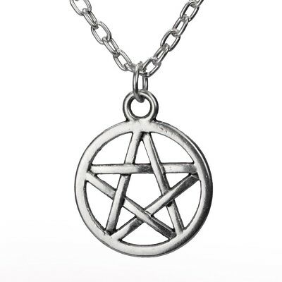 Pentagram Necklace Crystal Wiccan Pagan Gothic Witch Occult Boho Star Magic Rock