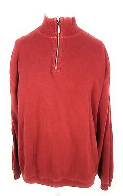 Tommy Bahama Red 1/4 Zip Jacket Sweater Mens Size XL