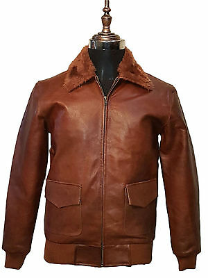 VINTAGE MEN BROWN DISTRESSED COW HIDE REAL LEATHER LONG TRENCH COAT JACKET