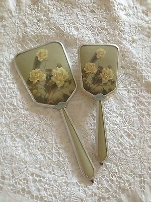 Vintage Hair Brush And Mirror Set
