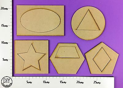 MDF Shapes within Shapes - PUZZLE - Set of 10 pieces