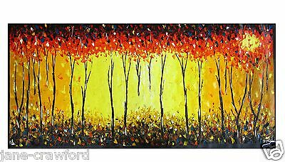 "47"" Aboriginal Art Painting Abstract Landscape Australia By Jane COA authentic"