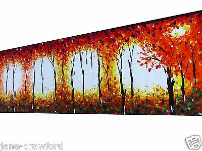 huge  Oil Painting Modern Art original styled bushfire abstract  HAND PAINTED