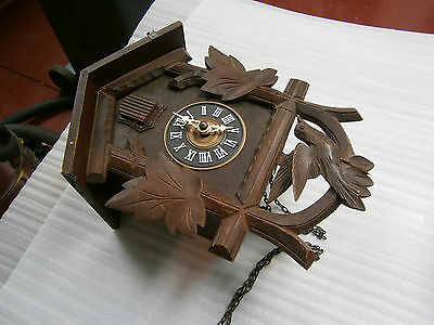 Large Antique German Cuckoo Clock Incomplete For Parts.