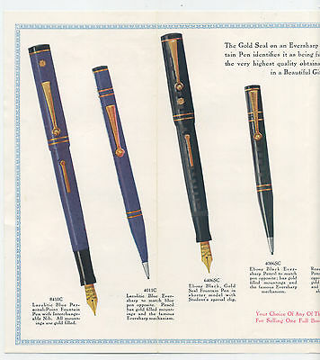 Eversharp Fountain Pen large brochure - pictures many models