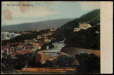 Vintage Postcard Hong Kong - The Hill-Side - Scenic View