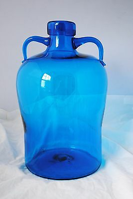 Big, Beautiful, Vintage Blenko Hand Blown Glass Jug - 7627 - Shepherd Design