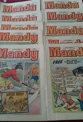 10 x Mandy comics March to June 1988