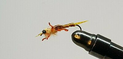 6QTY REAL STONE FLY GOLDEN Fly fishing Flies size 06 & 08