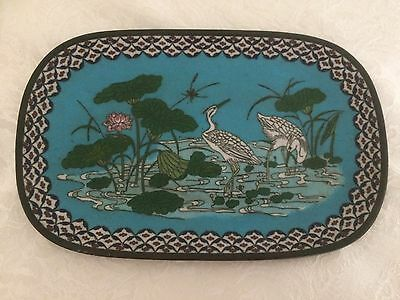 Antique Chinese Cloisonne Dish / Tray