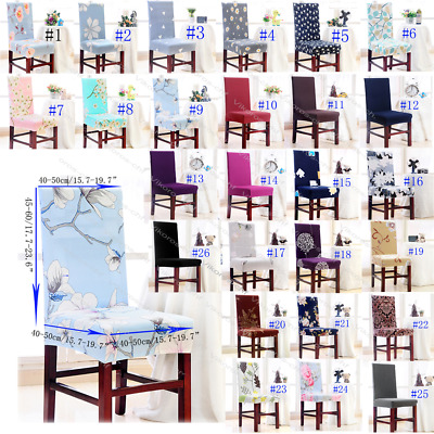 Spandex Colorful Dining Room Wedding Banquet Chair Cover Party Decor Seat Cover