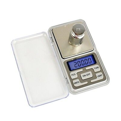 500g x 0.01g Digital Pocket Jewelry Scale Weight Electronic Balance Gram Silver