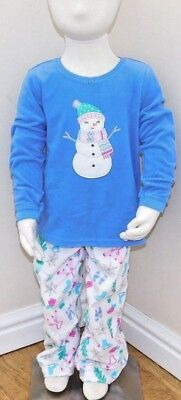 Carters girls 2-Piece Snuggle snowman Fleece PJs 2 sizes fantastic quality BNWT