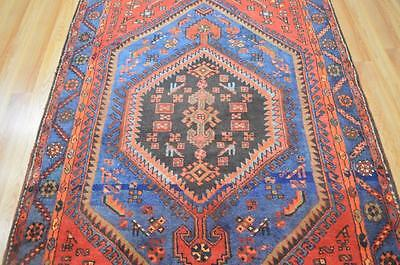 4'6 x 7'9 Amazing Authentic Persian Tribal Kurdish Hand Knotted Wool Animal Rug