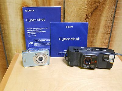 Lot of 2 Cameras, Sony Cyber-Shot, Canon Snappy 50