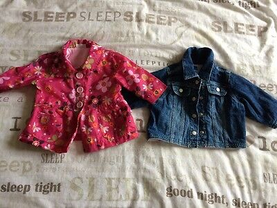 Lightweight Jacket And Denim Jacket Baby Girl 0-3 Months