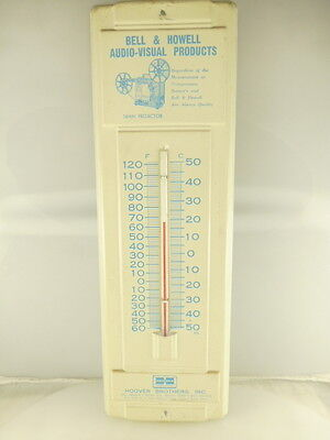 Vintage Bell & Howell Hoover Brothers Advertising Metal Wall Thermometer