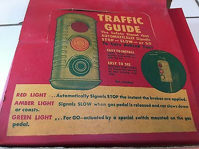 LQQK! NOS Vintage TRAFFIC GUIDE Light for your Car Truck Stop Lamp Antique NEW