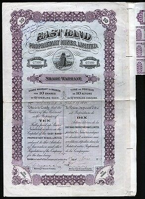 1929 Transvaal, Africa: East Rand Proprietary Mines Ltd