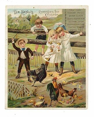 DR HANDS, Victorian Trade Card, 312, Remedies for Children