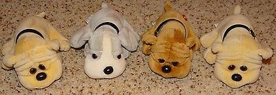 Vintage Plush Kennel Kuddlees Tara Toy, Lot of FOUR - Excellent Condition