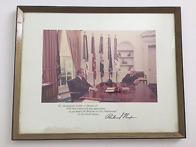 RICHARD NIXON signed photo to WALTER STOESSEL, AMBASSADOR TO RUSSIA