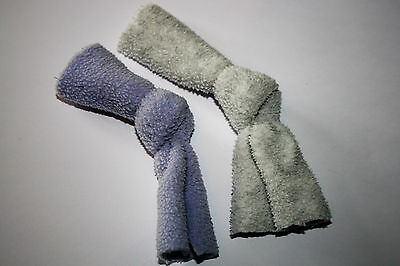 2 Cat nip knots.Cat toys filled with cat nip - Lilac and grey