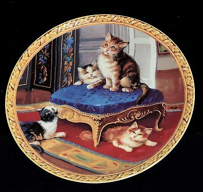 Where Has It Gone ~ Regency Kittens Collection by Baum Bros. Collector's Plate