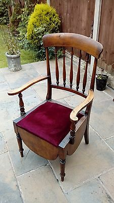Oak Wooden Antique Chair Cammode