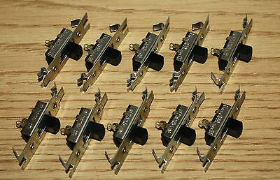 10x Stackpole Slide Switch SPST, Single Pole, 4A 125VAC, 2A 250VAC, 1A 125VDC