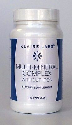 Klaire Labs - Multi-Mineral Complex (Without Iron), 100 Capsules