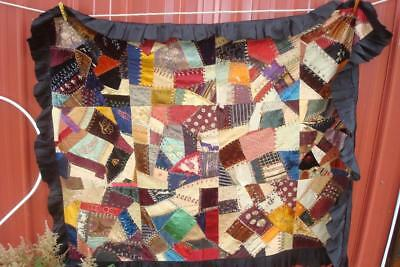 Antique Silk Crazy Quilt