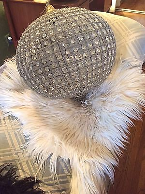 French Beaded Crystal Ball Chandelier 22""