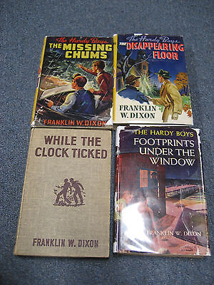 Lot of 4 Vintage Hardy Boy books